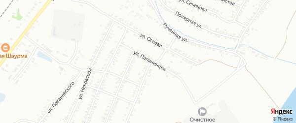 Улица Папанинцев на карте Копейска с номерами домов