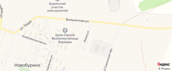 Новая улица на карте села Новобурино с номерами домов