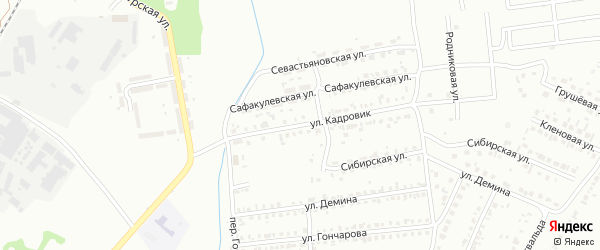Улица Кадровик на карте Копейска с номерами домов