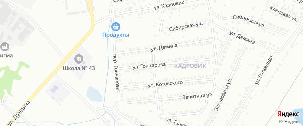 Переулок Котовского на карте Копейска с номерами домов