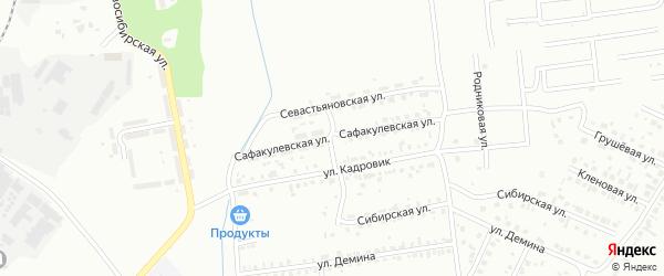 Сафакулевская улица на карте Копейска с номерами домов