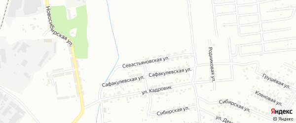 Севастьяновская улица на карте Копейска с номерами домов
