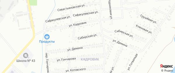 Сибирская улица на карте Копейска с номерами домов