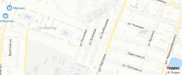 Улица Блюхера на карте Копейска с номерами домов