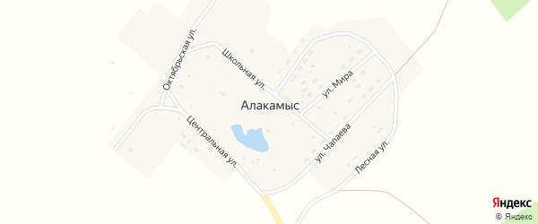 Лесная улица на карте поселка Алакамыса с номерами домов