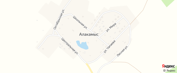 Школьная улица на карте поселка Алакамыса с номерами домов