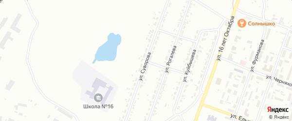 Улица Суворова на карте Копейска с номерами домов