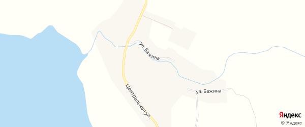 Карта села Шаблиша в Челябинской области с улицами и номерами домов