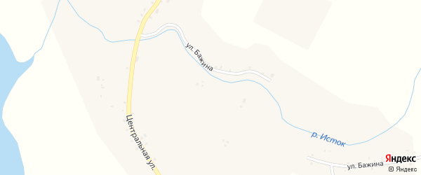 Улица Бажина на карте села Шаблиша с номерами домов