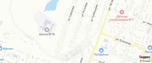 Улица Рогалева на карте Копейска с номерами домов
