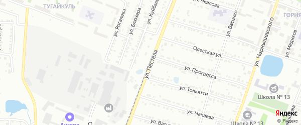 Улица Пестеля на карте Копейска с номерами домов