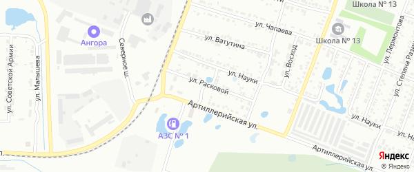 Улица Расковой на карте Копейска с номерами домов
