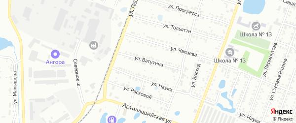 Улица Ватутина на карте Копейска с номерами домов
