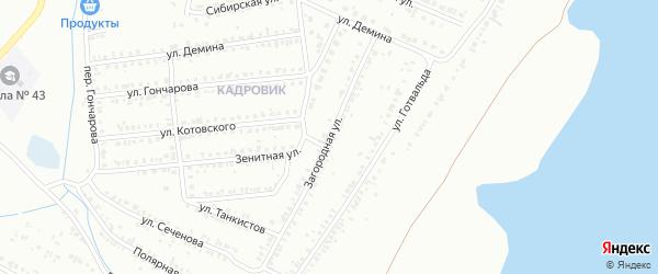 Загородная улица на карте Копейска с номерами домов