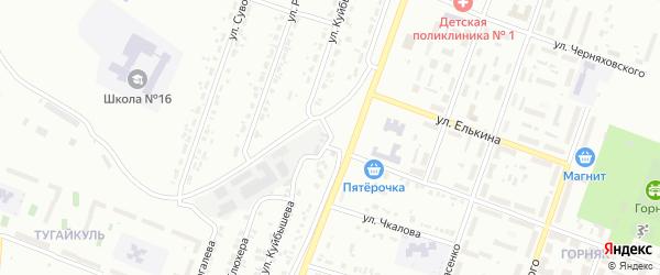 Улица Куйбышева на карте Копейска с номерами домов