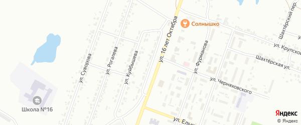 Улица Дмитрия Донского на карте Копейска с номерами домов