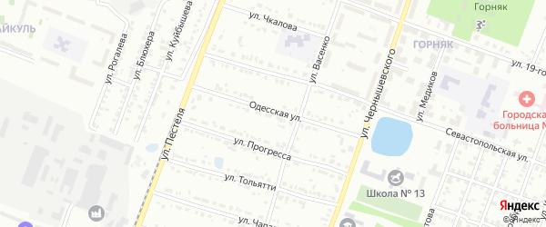 Одесская улица на карте Копейска с номерами домов