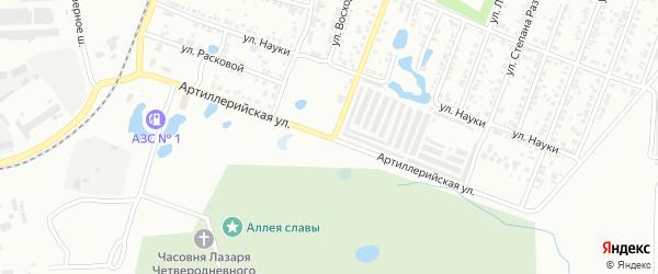 Артиллерийская улица на карте Копейска с номерами домов