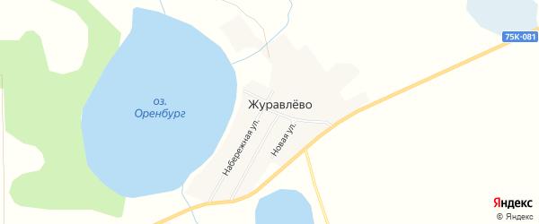 Карта деревни Журавлево в Челябинской области с улицами и номерами домов