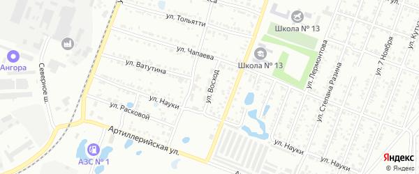 Улица Восход на карте Копейска с номерами домов