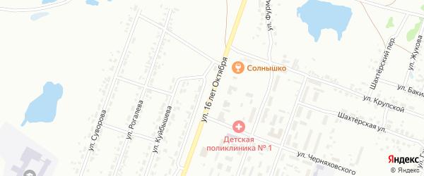 Улица 70 лет Октября на карте Копейска с номерами домов