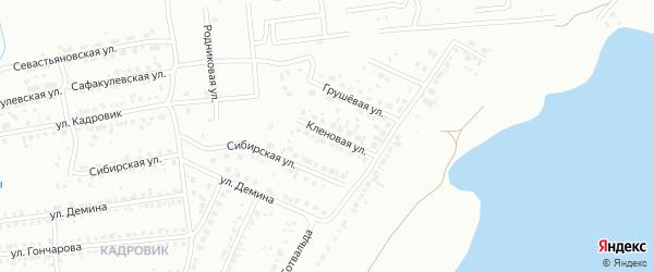 Кленовая улица на карте Копейска с номерами домов