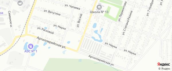 Улица Науки на карте Копейска с номерами домов