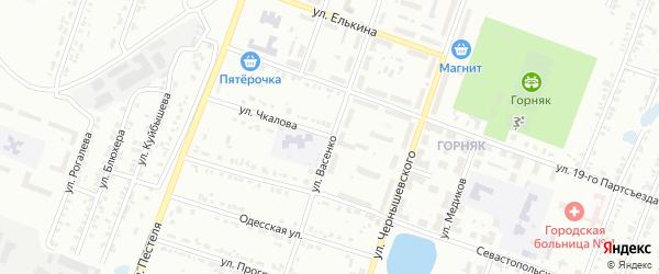 Улица Чкалова на карте Копейска с номерами домов