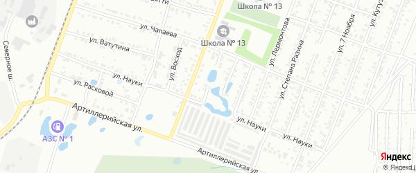 Переулок Чернышевского на карте Копейска с номерами домов