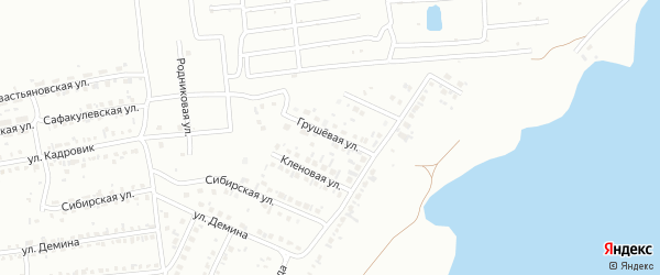 Грушевая улица на карте Копейска с номерами домов