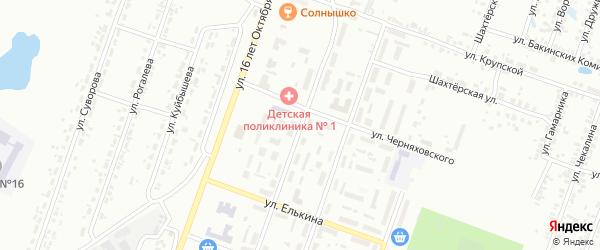 Улица Фурманова на карте Копейска с номерами домов