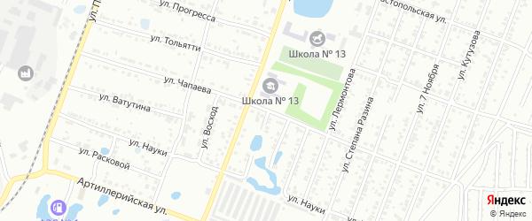 Улица Чапаева на карте Копейска с номерами домов