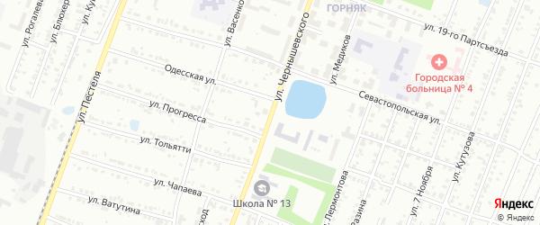 Улица Чернышевского на карте Копейска с номерами домов