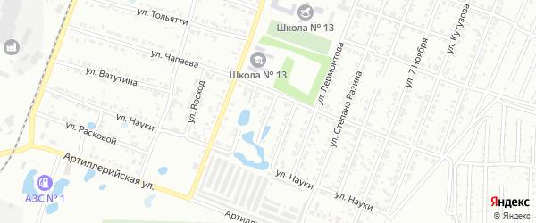 Переулок Чапаева на карте Копейска с номерами домов