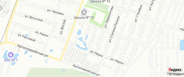 Кустанайская улица на карте Копейска с номерами домов