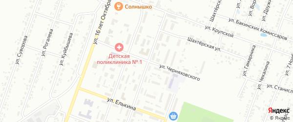 Улица Черняховского на карте Копейска с номерами домов