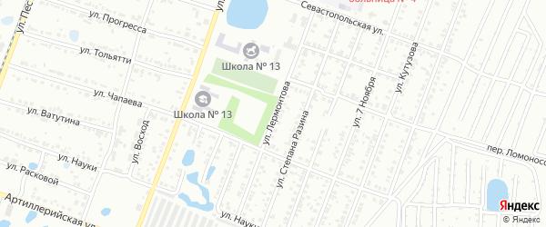 Улица Лермонтова на карте Копейска с номерами домов