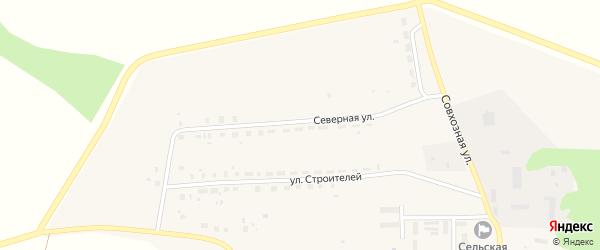 Северная улица на карте села Рождественки с номерами домов