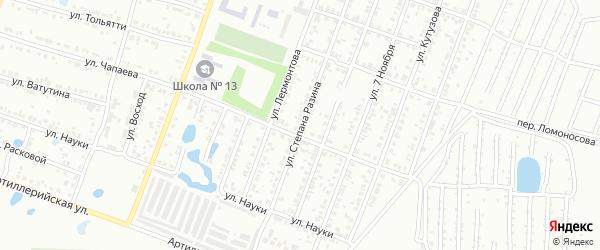 Улица Степана Разина на карте Копейска с номерами домов