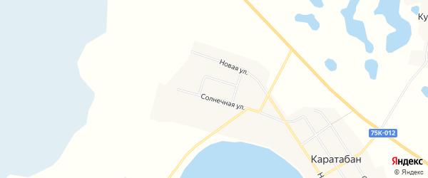 Карта села Каратабана в Челябинской области с улицами и номерами домов