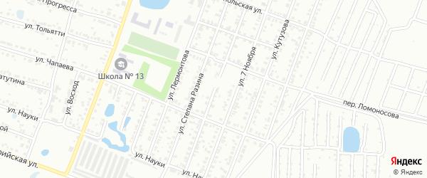 Улица Ивана Болотникова на карте Копейска с номерами домов