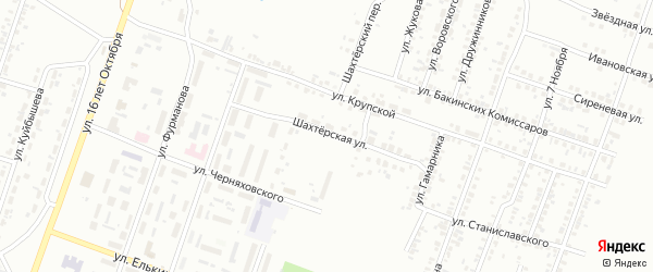 Шахтерская улица на карте Копейска с номерами домов