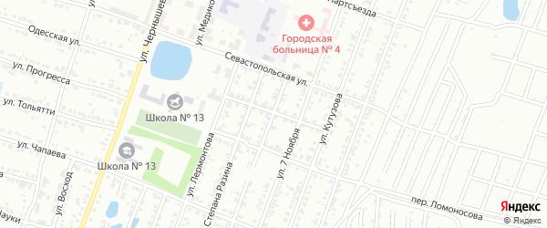 Переулок Степана Разина на карте Копейска с номерами домов