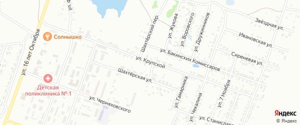 Улица Крупской на карте Копейска с номерами домов