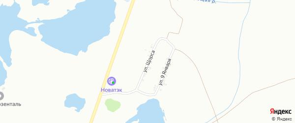 Улица Щорса на карте Копейска с номерами домов