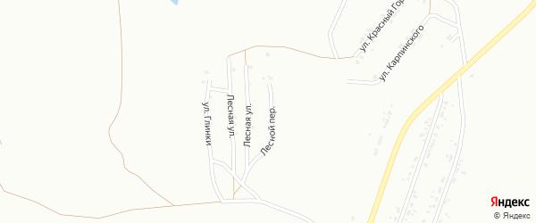 Переулок Лесной (бывший РП Горняк) на карте Копейска с номерами домов
