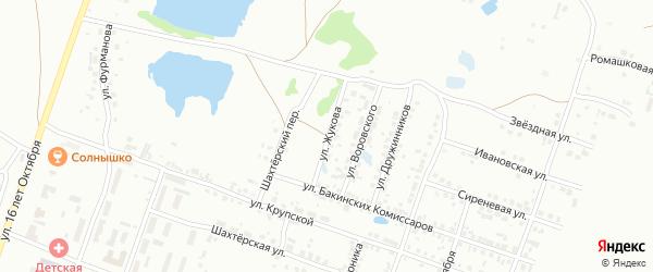 Улица Жукова на карте Копейска с номерами домов