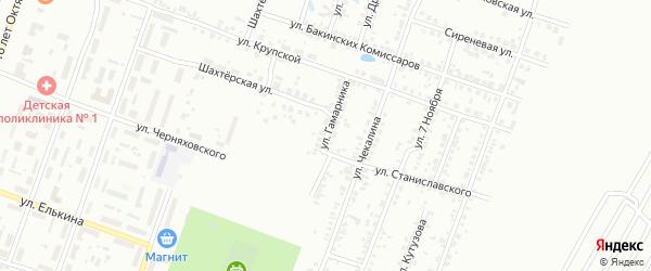 Улица Гамарника на карте Копейска с номерами домов