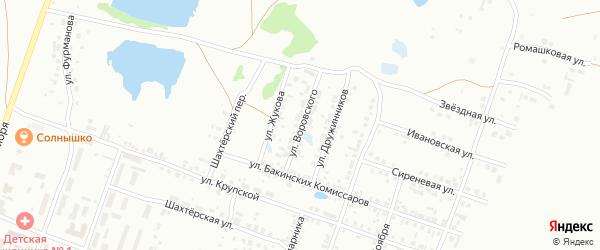 Улица Воровского на карте Копейска с номерами домов