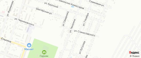 Улица Чекалина на карте Копейска с номерами домов